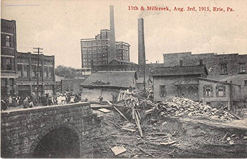 Erie Pennsylvania Flood Damage 11th Millcreek Antique Postcard - Millcreek Pennsylvania