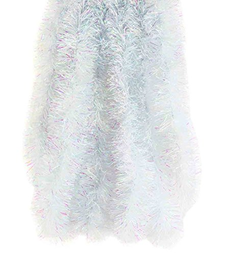 Elegant Hanging Holiday Tinsel Garland 3-inches Thick x 12-feet