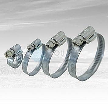 5 Schlauchschellen Edelstahl Spannweite 120-140 mm W2 9 mm Bandbreite