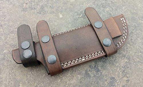 Ottoza Custom Handmade Dark Brown KNIFE SHEATH/TRACKER - BUSHCRAFT - SKINNER Buffalo Leather - Scout Sheath