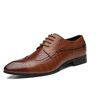 feb80d1aa35ed4 Business Schuhe Herren Anzugschuhe Brogues Oxford Lederschuhe Männer  Lackleder Derby Schuhe Casual Schnürhalbschuhe Hochzeit Atmungsaktiv Schwarz