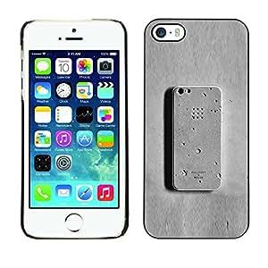 "For Apple iPhone 5 / 5S Case , Teléfono gris Meta hormigón divertido"" - Diseño Patrón Teléfono Caso Cubierta Case Bumper Duro Protección Case Cover Funda"