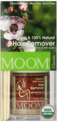 Moom Organic Hair Removal Kit, Tea Tree, 6-Ounce (Organic Kit)