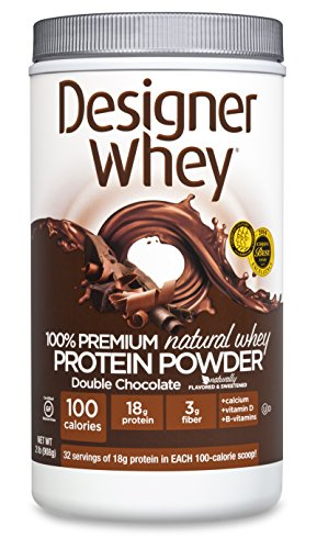 WHEY DESIGNER 100% Premium Whey Protein Powder, double chocolat, 32 once Container