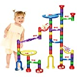 LOYO Marble Run Toy, Marble Runs STEM Educational Learning Toy, Marble Race Coaster Construction Railway Building Blocks Toy Boys Girls 4 5 6 7 8 + Year Old