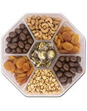 Holiday Gift Basket, Birthday Gifts Basket - Nut Fruit Tray Assortment with Gourmet Chocolate - Prime Food Gift Delivery - Women, Men, Family, Corporate Birthday, Anniversary, Get Well, Sympathy, Party - by Pellatt Cornucopia
