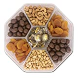 Valentine's Day Gift Basket - Nut Fruit Tray Assortment with Gourmet Chocolate - Prime Food Gift Delivery - Women, Men, Family, Corporate Birthday, Anniversary, Get Well, Sympathy, Party - by Pellatt Cornucopia