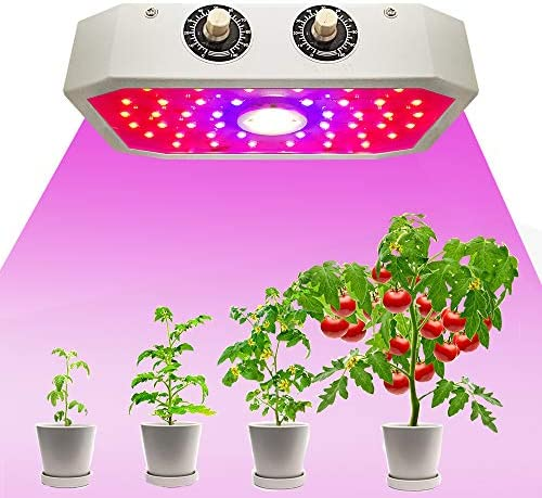 POWMATE 1000w LED Grow Light Full Spectrum Led Grow Lamp Plants Growing Lights for Hydroponic Indoor Seeding Veg and Bloom Greenhouse Growing Light Fixtures Four for 20 sqft Coverage