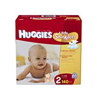Huggies Little Snugglers Size 2 Giant Pack, 140 Count
