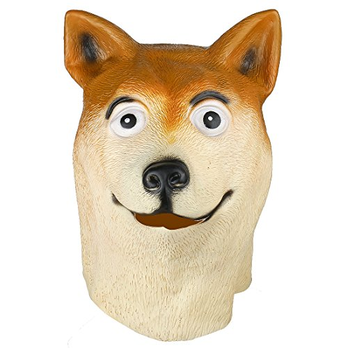 Creepy Dog Mask Latex Cosplay Animal Halloween Party Costume Mask Theater Prop