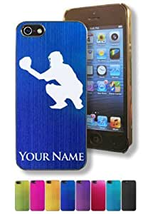 Apple Iphone 5/5S Case/Cover - BASEBALL CATCHER - Personalized for FREE (Click the CONTACT SELLER button after purchase and send a message with your case color and engraving request)