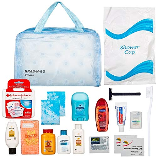 Women's Ultimate Travel Toiletries Bag | Shampoo, Conditioner,