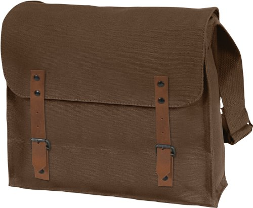 [Vintage Shoulder Medic Bag (Brown, Plain)] (Army Medic Costumes)