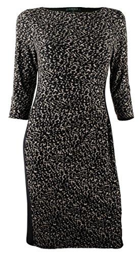 Ralph Lauren Women's Plus Print Matte Jersey Dress-CBB-22W