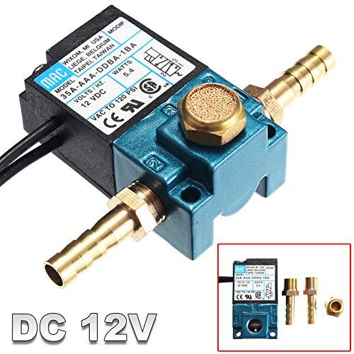 (Shentesel DC12V Aluminum Alloy Electronic Boost Control Solenoid Valve for ECU 3-Port PWM)