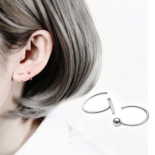 (usongs European style minimalist beads word half circle semicircle earrings elegant ear hook earrings earrings original design)