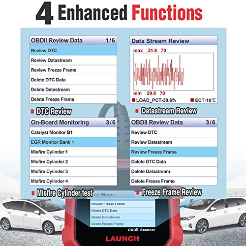 LAUNCH CRP3008 Creader 3008 Professional OBD2 Scanner Enhanced OBDII EOBD Code Reader, One-Key Check Engine Light I/M Readiness O2 Sensor Systems Battery Test Diagnostic Scan Tool-Free Update by LAUNCH (Image #5)