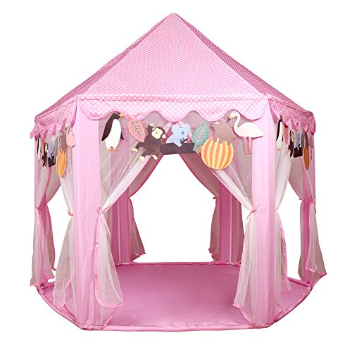 Best Price! Kids Princess Castle Play House - LEKESI Pink Play Tent For Outdoor and Indoor - Pefect ...