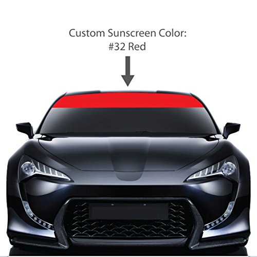 shield Visor Sun Screens. / RED / Vinyl Stripes & Decals. / Custom Made for Cars Trucks Auto Vehicles Vans Windows. / universal sunscreen stickers. / By 1060 Graphics. ()
