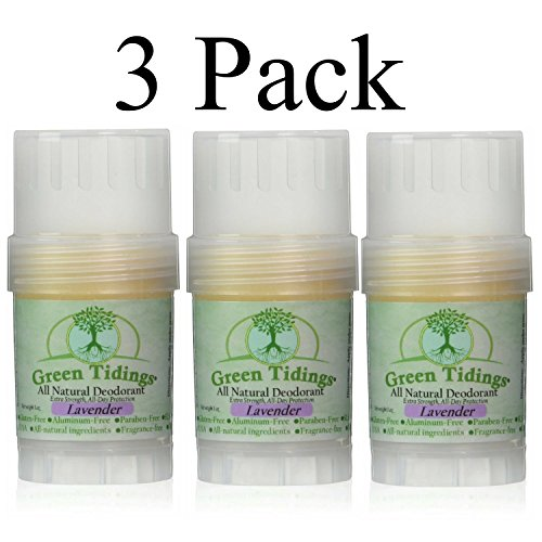 Green Tidings All Natural Deodorant *Extra Strength, All Day Protection* Lavender 1oz (3 PACK- 15% OFF) by Green Tidings (Image #4)