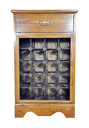 PierSurplus Wine Rack - Wood Cabinet with Counter and Drawer, Hold 20 Bottles Product SKU: HD223524 by PierSurplus
