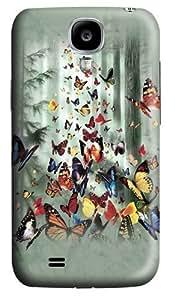 Butterflies Custom Samsung Galaxy I9500/Samsung Galaxy S4 Case Cover Polycarbonate 3D