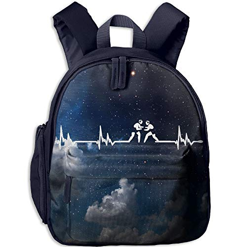 Wrestling Heartbeat 3D Print Student Backpack Kids Fashion Bookbags by KHEION Bag