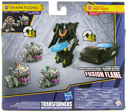Transformers Cyberverse Battle for Cybertron Sharkticons Attack with Stealth Force Hot Rod