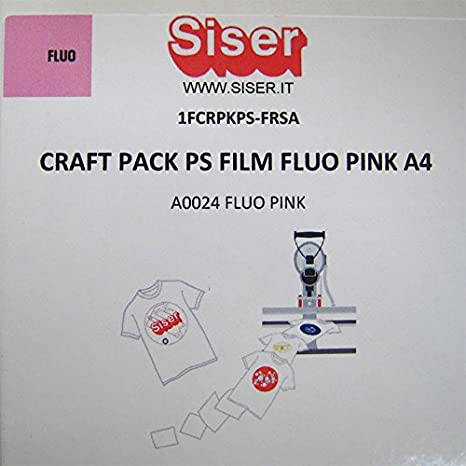 Flex A0024 - Camiseta de manga corta, diseño de plotter, tamaño A4, color rosa neón: Amazon.es: Jardín