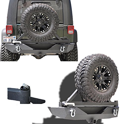 KO Off-Road Jeep JK Wrangler Rear Bumper with Tire Carrier