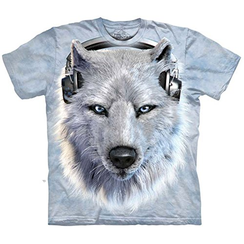 "The Mountain Kinder T-Shirt ""White Wolf DJ"""