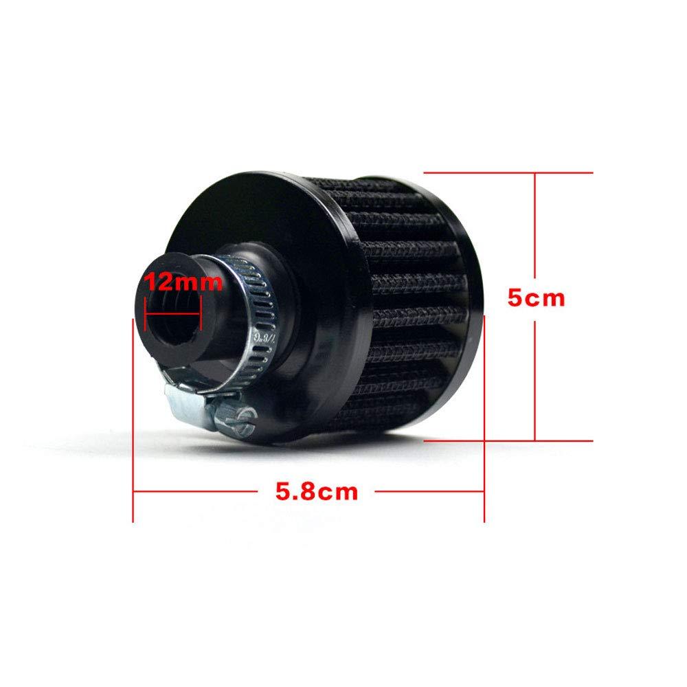 Negro DINBGUCHI 1 Unids Filtro de Aire Secundario del Filtro de Aire del Filtro de Aire de Peque/ña Seta Filtro de Purificador de Aire Filtros