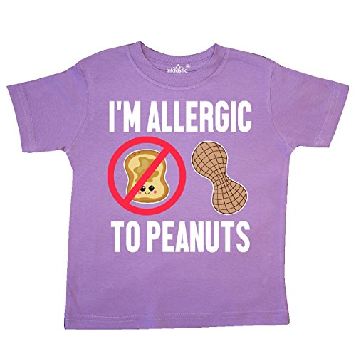 inktastic - Im Allergic to Peanuts Food Allergy Toddler T-Shirt 4T ()