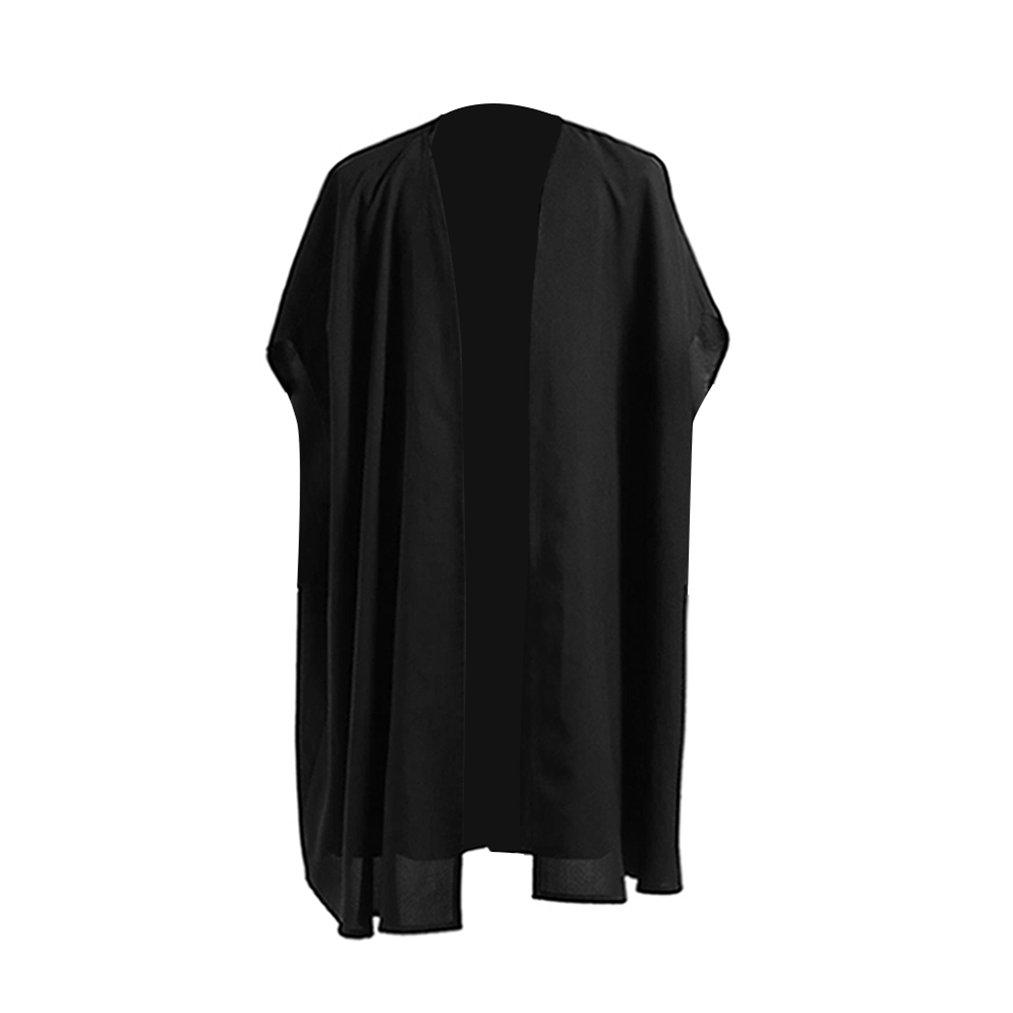 Men's Professor Severus Snap Black Cape Halloween Cosplay Costumes (Large, Men Black Robes)