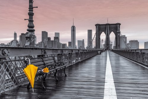 GB eye Assaf Frank - Brooklyn Bridge Umbrella Poster - (Assaf Frank)