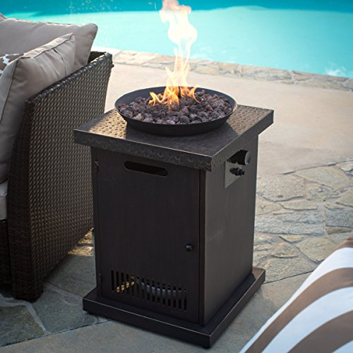 Red Ember Livingston Gas Fire Column, Durable and Safe with Convenient Push-Button Ignition, with FREE Cover for Easy Storage (Outdoor Fire Column)