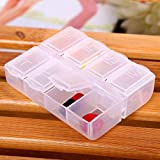 Mini 8 Grids Transparent Storage Tool Box SMD SMT Screws Nuts Small Part Repair Toolbox Container Organizer Case