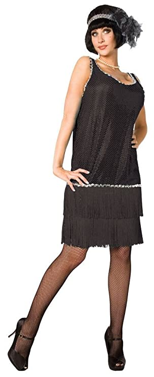 1920s Chicago Style Flapper Fancy Dress Costume - One Size