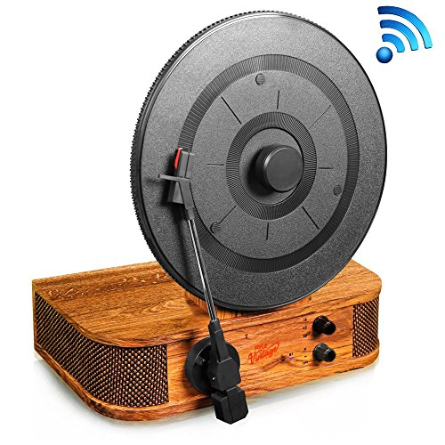 Pyle Turntable Bluetooth, Dual Built-in Stereo Speakers, 3 Stereo Speed Turntable: 33-1/3, 45, & 78 RPM, Vintage Vinyl, Vertical Record Player Speaker System, USB/MP3, Great For Gifts (PLTT21BT) by Pyle