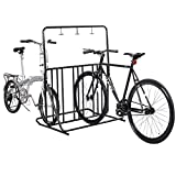 Edxtech Bicycle Parking Storage Rack 1-6 Bikes Steel Park Stand 2/3/4/5 Black Bike Racks