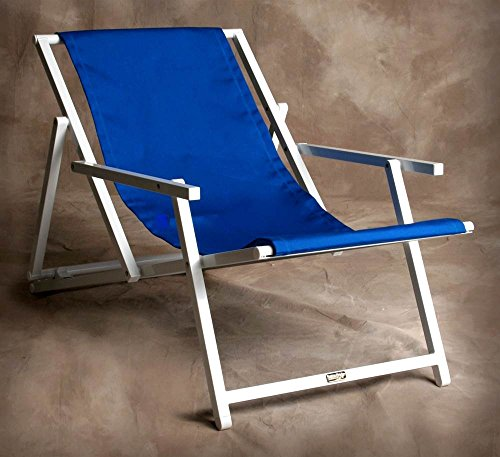 able Savannah Sling Chair w Arms in Pacific Blue (Pacific Sling Adjustable Lounge Chair)