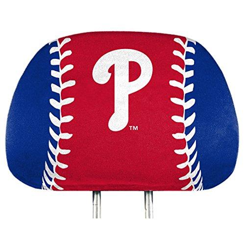 (ProMark Philadelphia Phillies Printed Full Color 2-Pack Head Rest Covers Elastic Auto Baseball)
