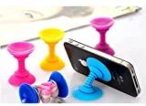 Geekercity 2PCS 2-in-1 Multifunctional 180 Degree Rotation Dual-Head Silicone Suction Cup Holder Mount Earphone Cable Headphone Cord Winder Wrap for iPhone / iPad and Cellphones Smart Phone and Tablet PC