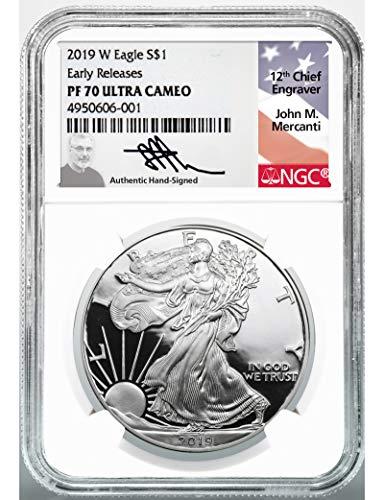 - 2019 W American Silver Eagle $1 PR-70 NGC