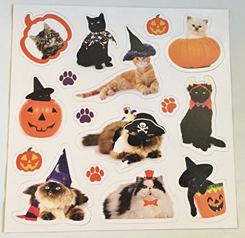 Cats of Halloween Magnets 16 Piece Magnet Set]()