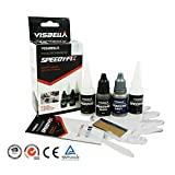 Visbella Speedy Fix Filling And Reinforcing Glue Kit 7 Second Rapid Bonding Adhesive For Metal Porcelain Glass Stone