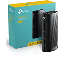 TP-LINK DOCSIS 3.0 Cable Modem, 343Mbps Download and 143Mbps Upload Data Rates (may vary with ISP), Certified for XFINITY from Comcast, Time Warner, Cablevision and Bright House Networks (TC-7610)
