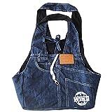 Yoption Portable Dark Blue Denim Pet Tote Handbag, Single-shoulder Sling Carrier for Small Dog Cat Review