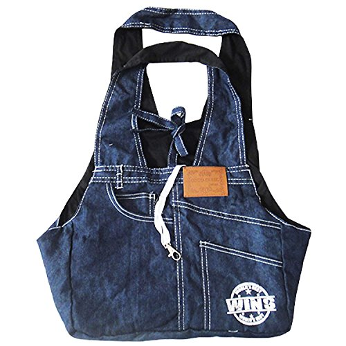CozyCabin Denim Padded Puppy Dog Cat Pet Sling Carrier Purse Bag Tote Lightweight for Bike Hiking Shopping Outdoor Travel pet carrier soft sided(Dark Blue)