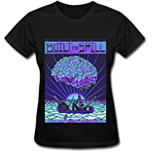 SHUNFA Women's Built To Spill T-shirt Black L